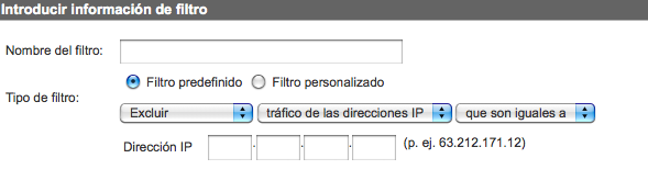 Filtro IP Google Analytics